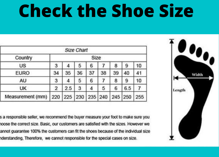 Check the Shoe Size
